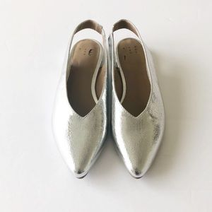 NWOT A New Day Silver Nicka Sling Back Ballet Flat